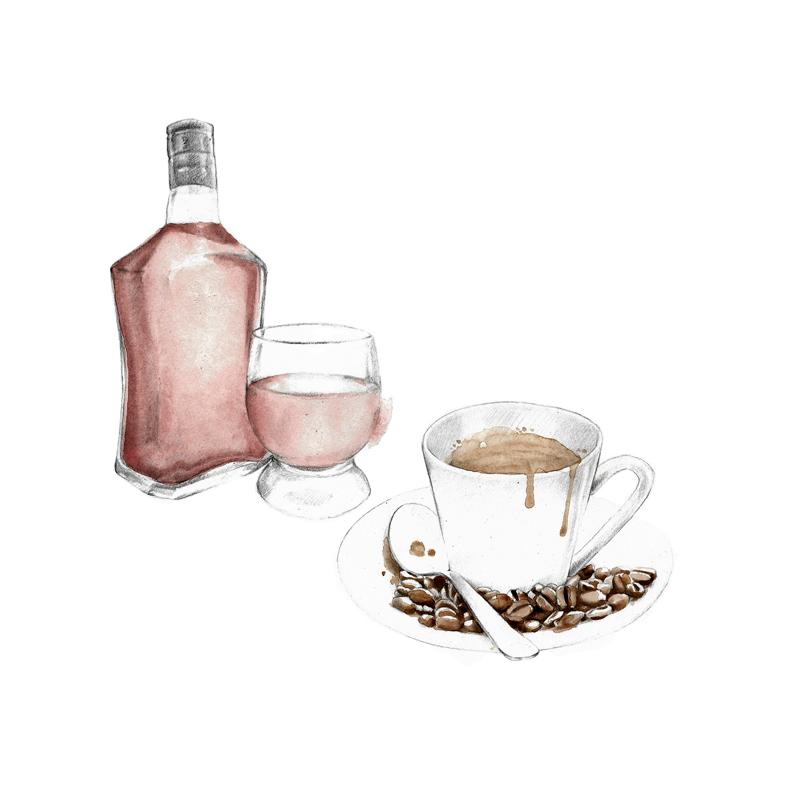 Cafeína y alcohol